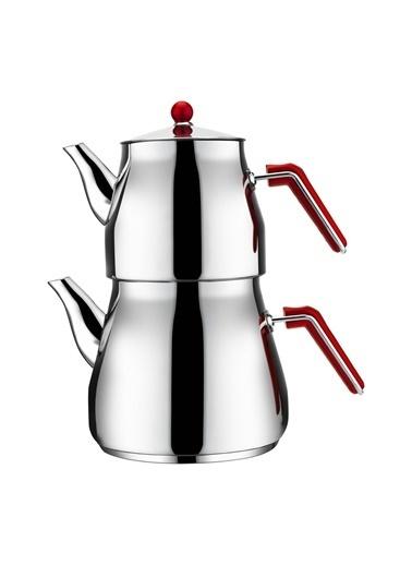 Aksu Mega Family Çaydanlık - Kırmızı Kırmızı